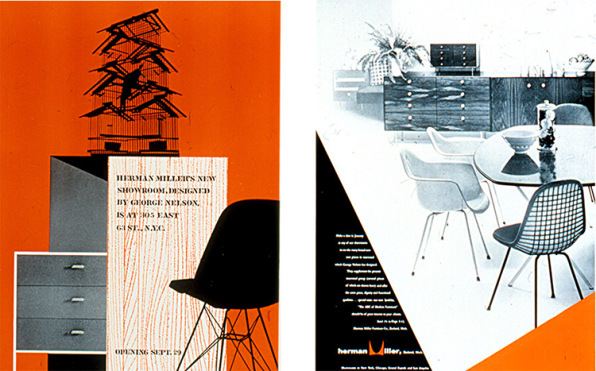 When Nelson Undertook His Debut Furniture Collection As Design Director For  Herman Miller, He Was Also Tasked With Creating The Graphics And Advertising  ...