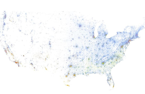 Infographic A Map Of Racial Segregation In America - Map of segregation in us