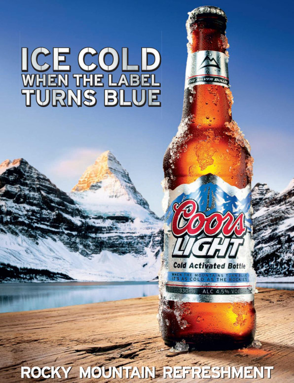 How cold is coors lights super cold beer some 70 of beer drinking men have at one point or another placed their beer in the freezer millercoors asserts aloadofball Image collections