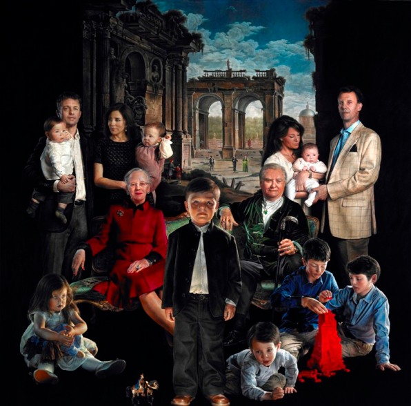 This painting of the danish royal family will steal your soul according to the danish royaltys official website the queen of denmark and her family wanted kluge to paint a royal family portrait similar to sciox Image collections