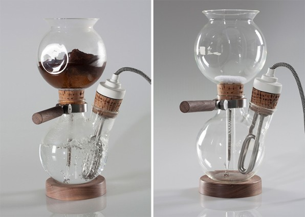 A Coffee Maker That Looks Like It Comes From A Chemistry Lab