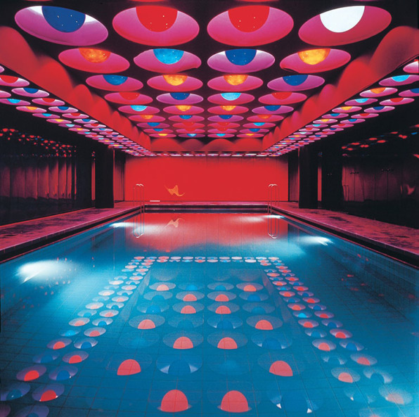 Verner panton s neon pool and the legacy of pop art design for Swimming pool trade show florida