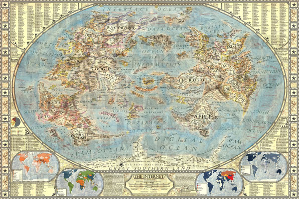 Navigate the internet on this stunning antique map of the online world as the map explains relative scale of websites doesnt always reflect exact relative internet traffic of these websites however often it does gumiabroncs Image collections