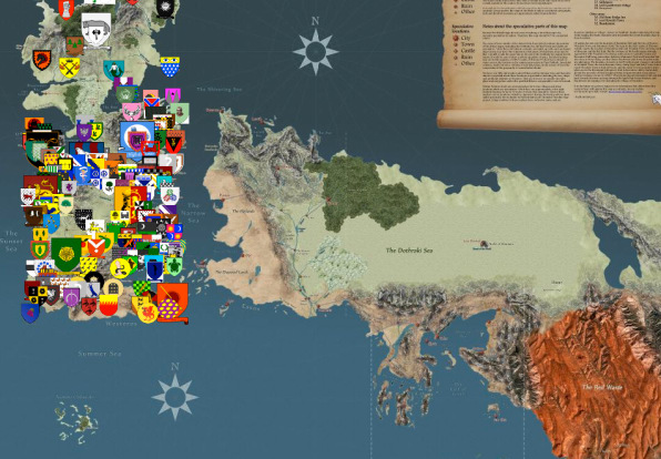 Google Maps Fans Take On The Insane Geography Of Game Thrones: Game Of Thrones United States Map At Usa Maps