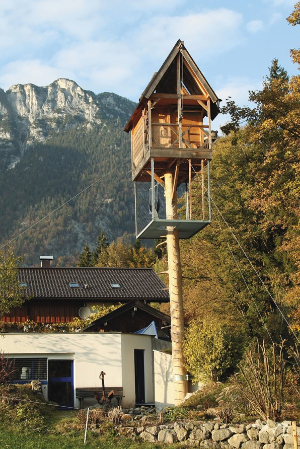Bernd Weinmayer, a famous glass artist by trade, is also a crafty  woodworker, and he built this beauty above his studio in the Tyrolean Alps.  Inside, ...