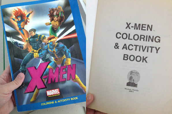 """A Group Of Artists Turned This Terrible """"X-Men"""" Coloring Book Into A M"""