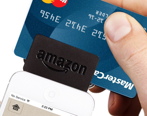 Amazons credit card reader is here and its dramatically cheaper tha whereas square and paypal skim 275 and 270 off every credit card transaction respectively amazon will charge a full percentage point lowerits 175 reheart Image collections