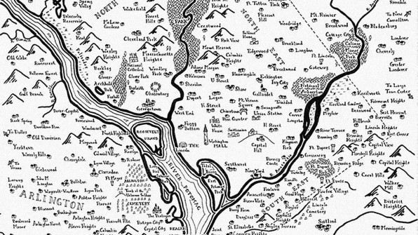 Borrows Tolkien S Whimsical Cartographic Style To Map Out Major American Cities As Fantasy Lands Of Castles And Dragons All Hand Drawn In Ye Olde Pen