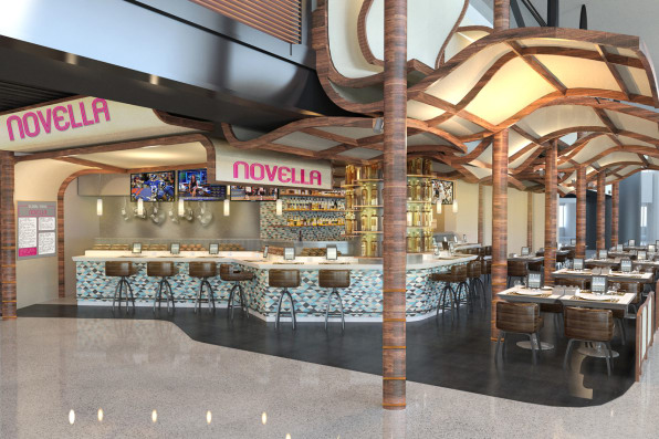 Newark airports new united terminal looks like a foodie theme park at newark rockwells designers want to turn the terminals drawbacks into advantages the challenge is to use long narrow hallways currently the domain malvernweather Gallery
