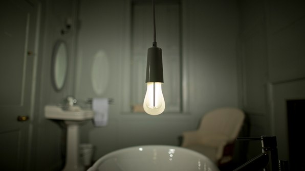 Thread a light bulb cord through the center and watch it pop out, like a  tent, into a classic lampshade shape. The ZooM lampshades start at about  $150, ...