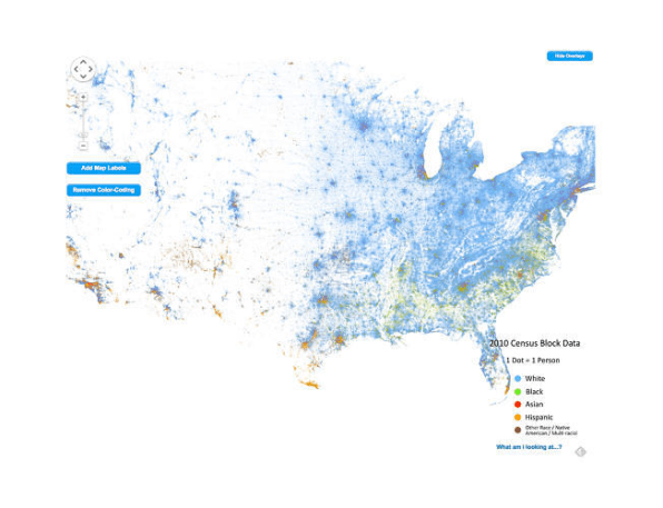 The 9 most informative maps of 2014 6 the racial profile of every neighborhood in america mapped gumiabroncs Images