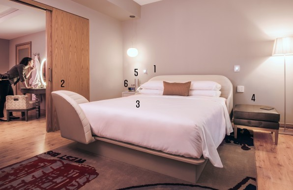 The best part of the hotel room is the bed  1  The headboard has been  designed with plush  lower lumbar support  so you can work against it with a  laptop. 24 Clever Ideas Inside Virgin s New Hotel
