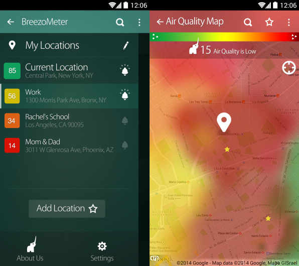 Breezometer Will Tell You The Air Quality On Your Street Before You Le - Best air quality in us map