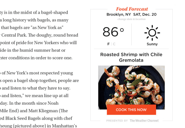 The new epicurious infuses recipes with google and tinder epicurious recommends food based upon the weather forumfinder Choice Image