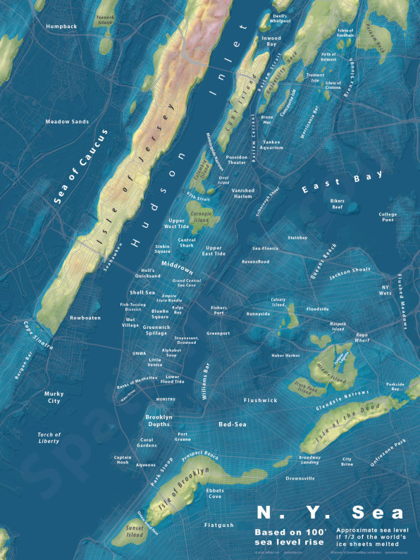 Heres What New York City Would Look Like After Extreme SeaLevel Rise - Google maps sea level