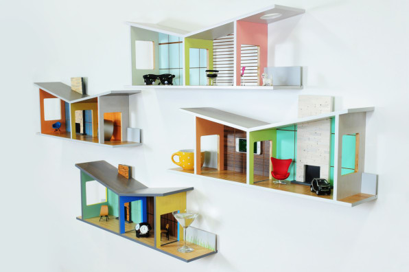 These Shelves Double As Mid-Century Modernist Dollhouses For Grown-Ups