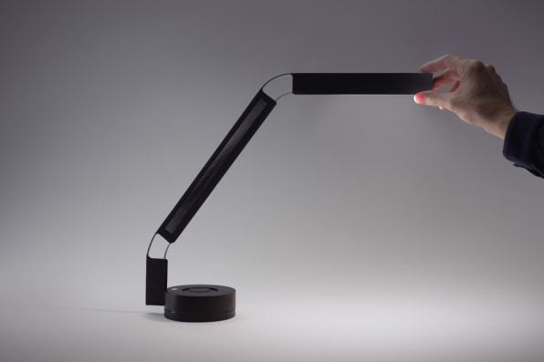 Where As Most Desk Lamps Are Made Up Of Numerous Moving Parts, The Fade  Task Light Is Made Up Of A Single Piece Of Steel, Which Can Bend Over 120  Degrees.