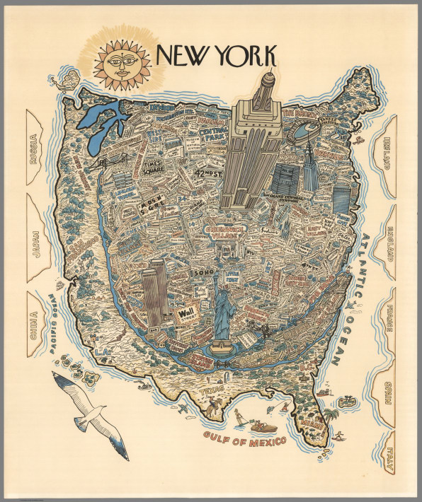 Heres A Map Of The World From A New Yorkers Point Of View - View us map