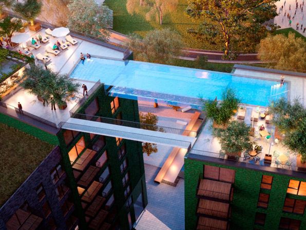 Living in a building with a sky pool won't come cheap. Embassy Gardens is  part of a $23 billion development project for in south-east London which  has been ...