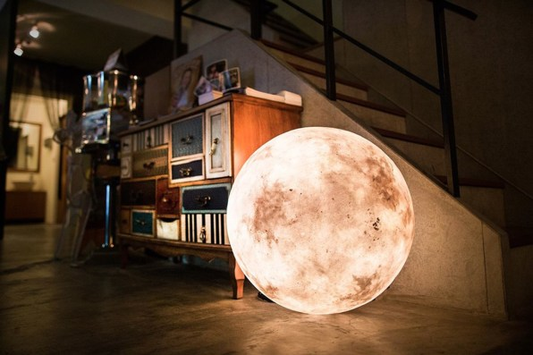 Huge Lamps For Bedroom. But if you d like to use Luna a more conventional lamp  no worries It can easily be hung overhead or placed on an end table The A Giant Moon For Your Living Room