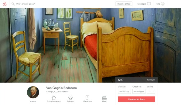 Need A Place To Crash In Chicago? How About Inside A Van Gogh?
