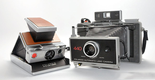 Polaroids SX 70 Left Which You Can Still Get Film For And The 440 Will Soon Be Orphaned