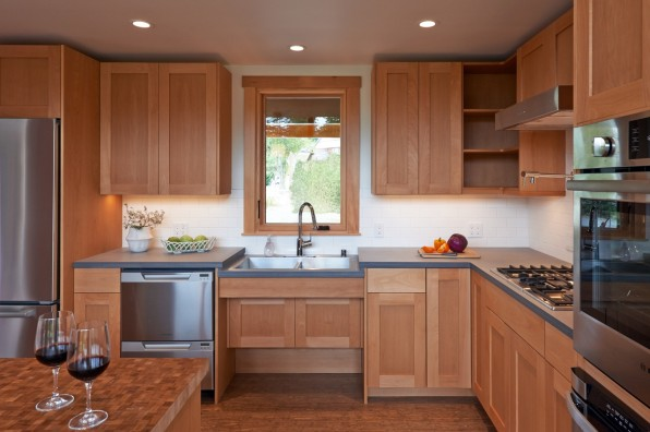 In Both Rooms, FabCab Left Space Underneath The Sinks For Knee Clearance.  In The Kitchen, The Low Cabinets Are Mostly Drawers ...