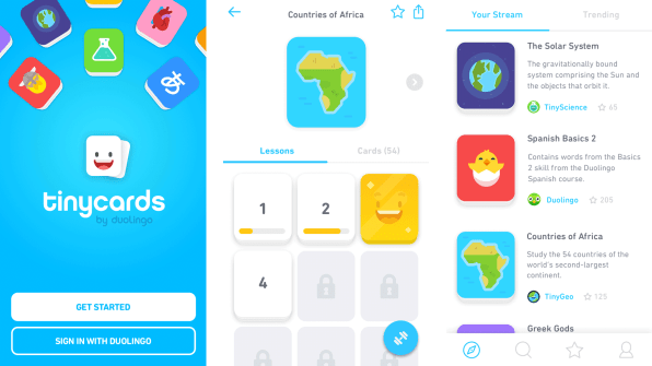 Duolingos new flashcard app tinycards says a lot about our obsessio tinycards doesnt begin and end with language flashcards though the app currently available for ios devices in the us canada the uk and australia urtaz Choice Image