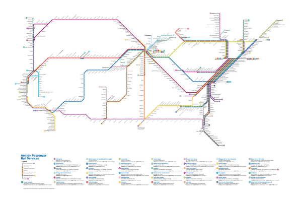 This Redesigned Map Of US Train Routes Might Make You Actually Want - Amtrak map usa