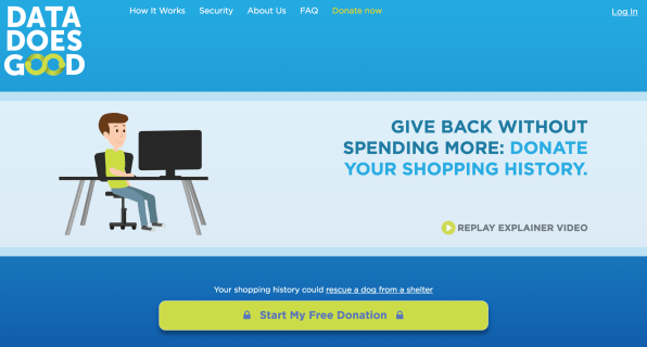 This site lets you donate your online shopping data to for Good sites for online shopping