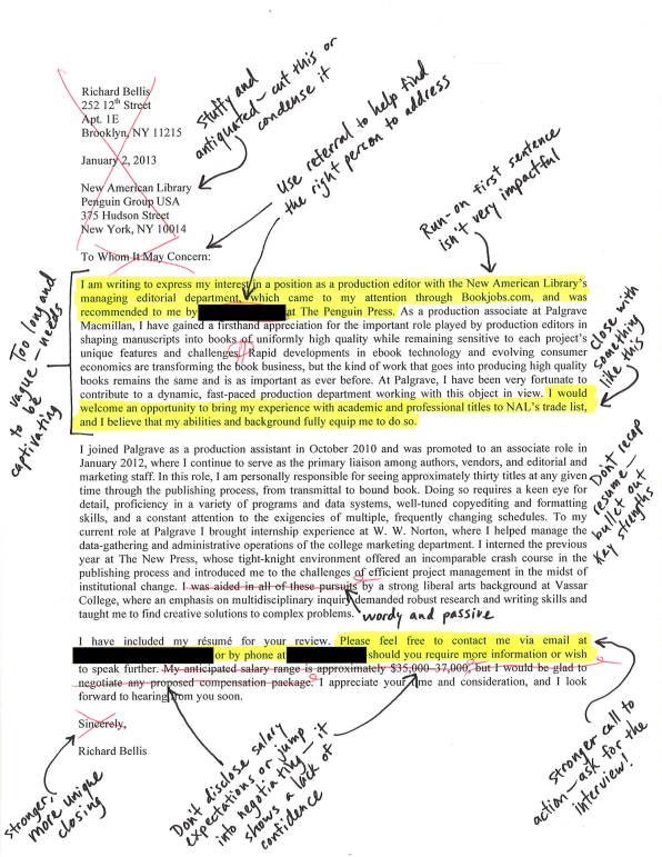 I Asked Leavy Detrick And Martin To Take A Merciless Red Pen To My Cover  Letter, And They Graciously Obliged. Iu0027ve Combined Their Most Insightful  Edits Into ...