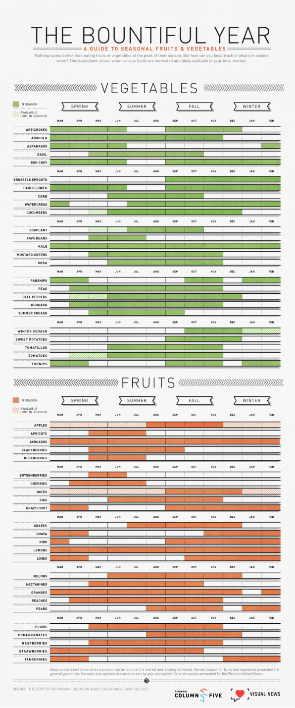 infographic an easy to digest guide to seasonal fruits and veggies