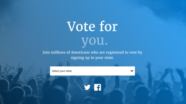 Facebook just launched a nationwide voter registration drive sciox Choice Image