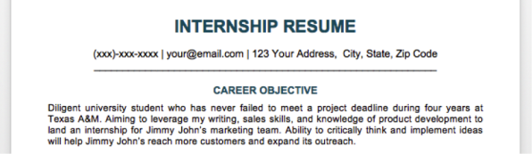 Click To Enlarge. [Image: Via Resume Companion]  What Are Your Career Objectives
