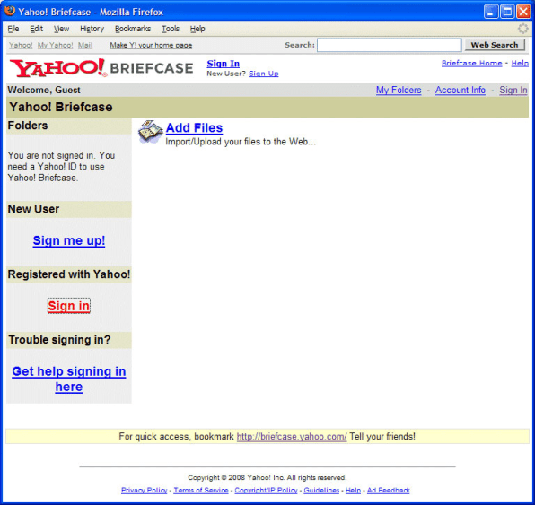 The glory that was yahoo yahoo briefcase for instance did cloud storage long before the likes of dropbox box and google drive stopboris Images