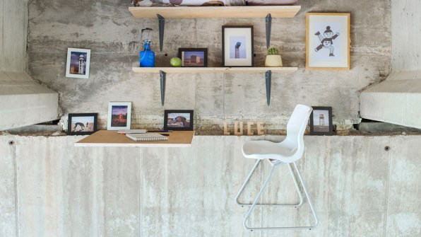unique rooms wall designs this designer built a secret studio that hangs beneath an underpass