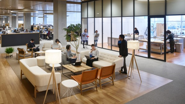 Uniqlo Is Rethinking Japanese Work Culture Through Office Design on Business Office Interior Design