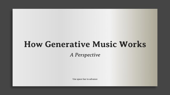This Primer On Generative Music Is A Masterclass In UX
