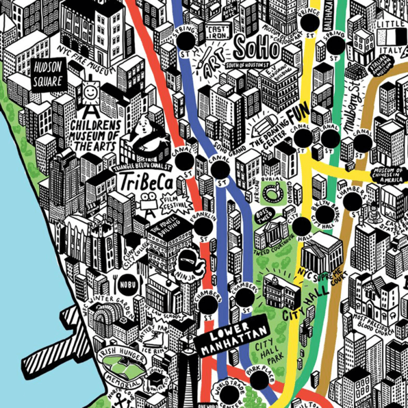A Gloriously Detailed, Hand-Drawn Map Of NYC