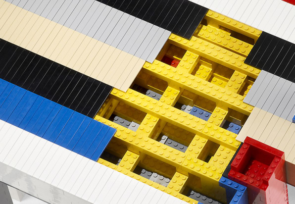 A Stylish Table Made From Legos, Which Anyone Can Make
