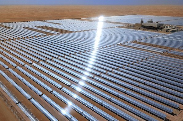 The World's Largest Solar Plant Shimmers In The Desert