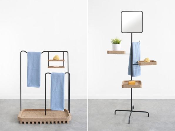 Extra-Clean Bathroom Furniture, Inspired By Japanese Flip-Flops