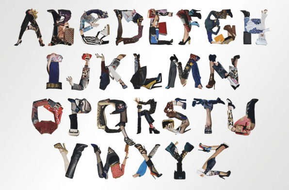 A Typeface Made Entirely Of The Season's Hottest Clothes