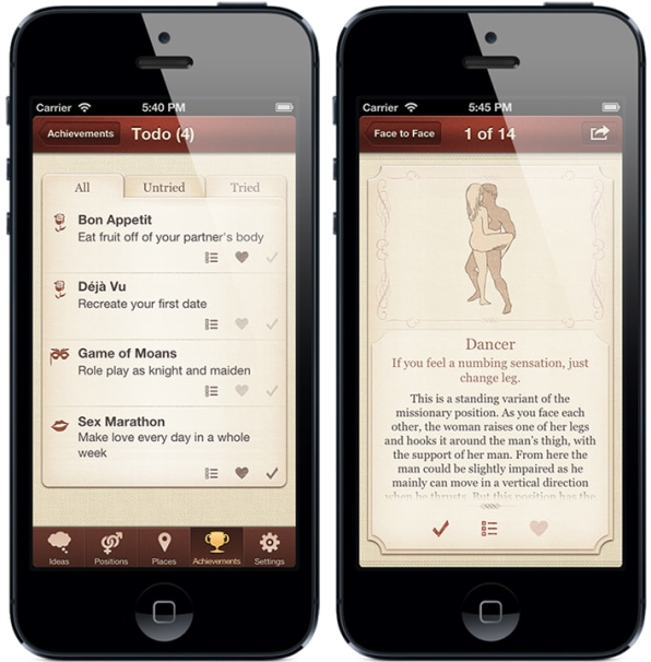 An iPhone App That Turns Kinky Sex Into A To-Do List