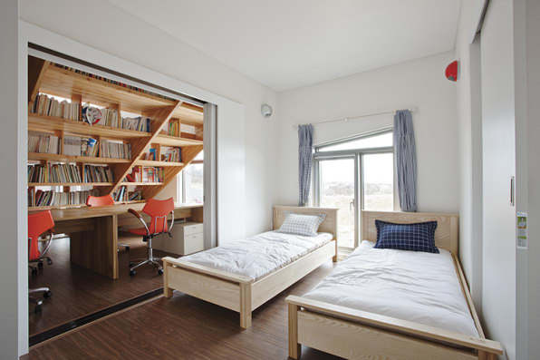 A Grown-Up Library, With A Built-In Slide For Kids