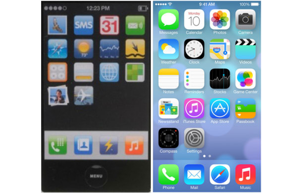 What 5 Dots In iOS 7 Reveal About A Decade Of Apple Design Strife