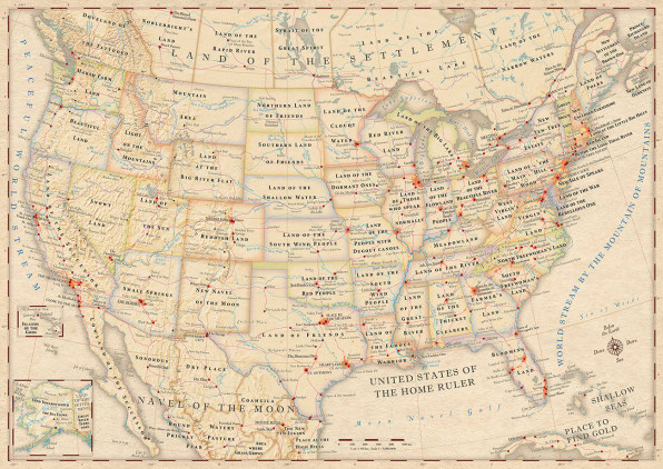 A Map Of The United States With The Names.Infographic The Literal Meaning Of Every State Name In The U S