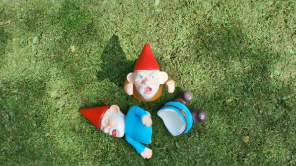 ... Armada Of Garden Gnomes. Rather Than Creep Around, Toy Story Style, And  Only Wreak Havoc When Their Ownersu0027 Backs Are Turned, These Belligerent  Buggers ...