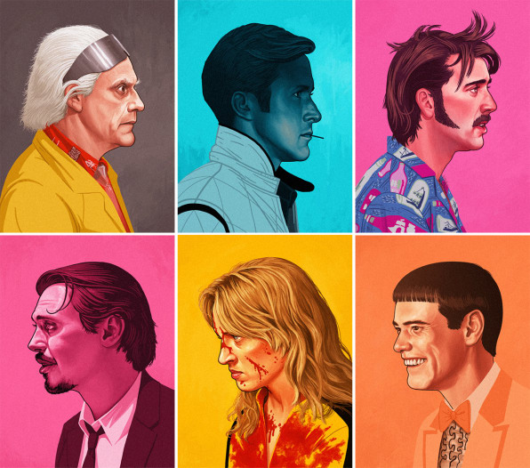 Mesmerizing Grainy GIF Portraits Capture Movie Characters' Essence