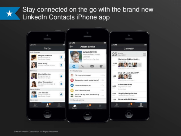 With Its New Contact App, LinkedIn Updates Its Job Title To